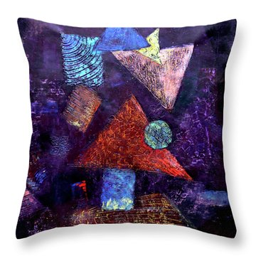 Trio Triangles  Throw Pillow