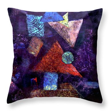 Trio Triangles  Throw Pillow