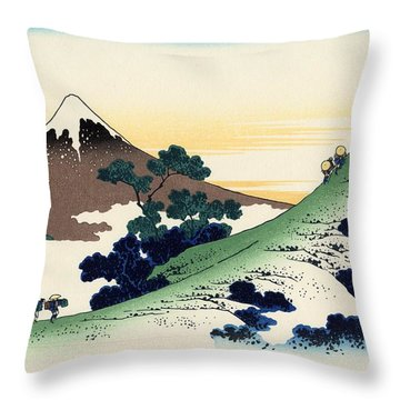 Throw Pillow featuring the photograph Trip Under The Fuji by Top Wallpapers