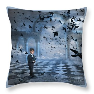 Tristan's Birds Throw Pillow