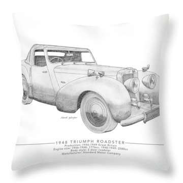 Triumph Roadster Throw Pillow