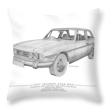 Triumph Stag Roadster Throw Pillow