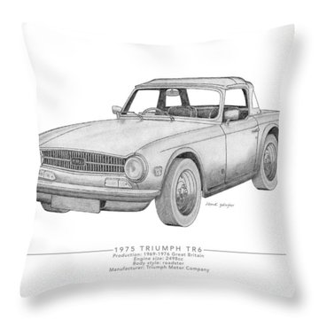 Triumph Tr6 Roadster Throw Pillow