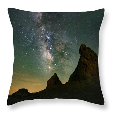 Trona Pinnacles Milky Way Throw Pillow
