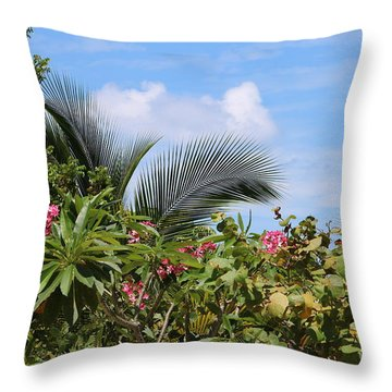 Tropical Flair Throw Pillow