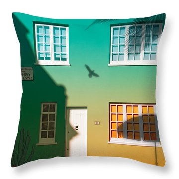 Tropical London Throw Pillow