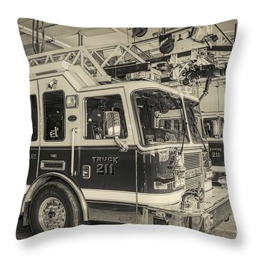 Truck And Engine 211 Throw Pillow