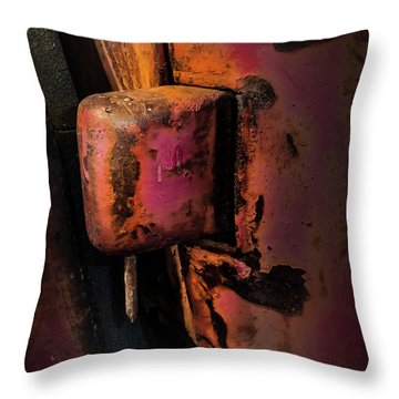 Truck Hinge With Nail Throw Pillow
