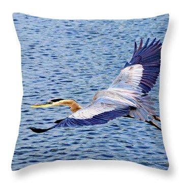True Blue #3 Throw Pillow