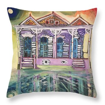 Tryptic On The Bayou New Orleans Throw Pillow