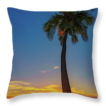 Tuesday 13th Sunset Throw Pillow