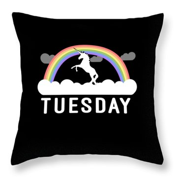 Throw Pillow featuring the digital art Tuesday by Flippin Sweet Gear