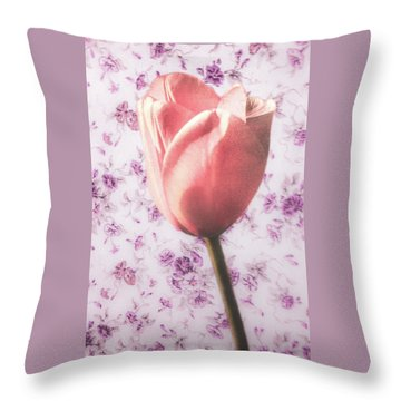 Throw Pillow featuring the photograph Tulip Contrasted by Michael Arend