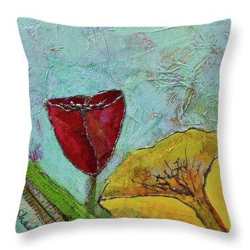 Tulip Festival V Throw Pillow