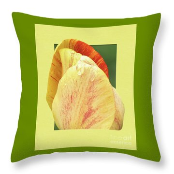 Tulip Petals Escaping Throw Pillow