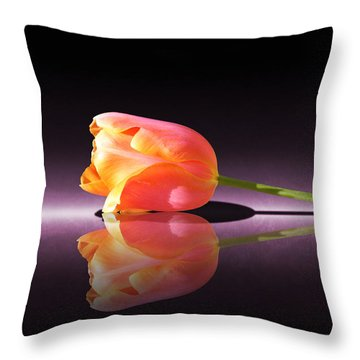 Tulip Reflection Throw Pillow