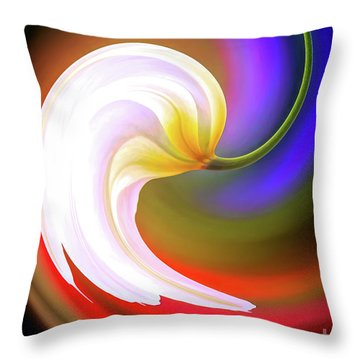 Tulip Twirl Throw Pillow