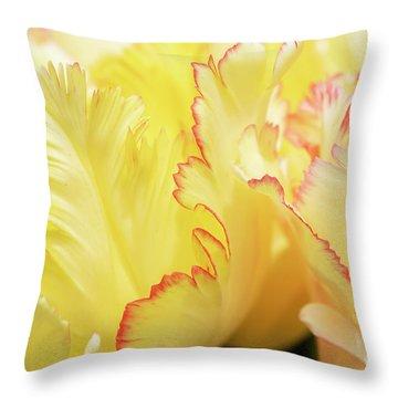 Tulipa Caribbean Parrot Petals Abstract Throw Pillow