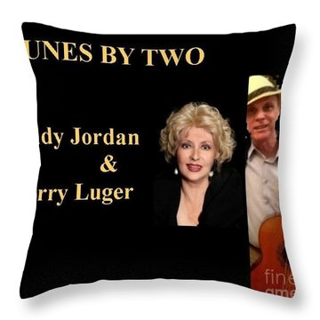 Tunes By Two Throw Pillow