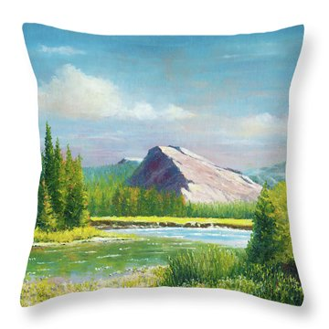 Tuolumme Meadows Spring Throw Pillow