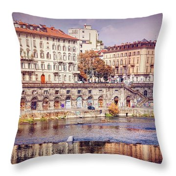 Turin Italy Reflected On The River Po Throw Pillow