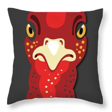 Turkey Stare Jp Throw Pillow