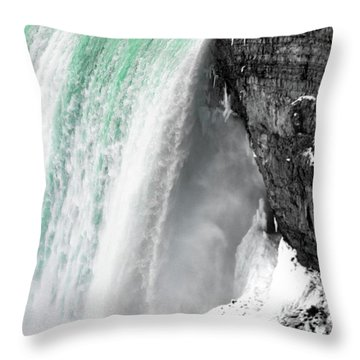 Turquoise Falls Throw Pillow