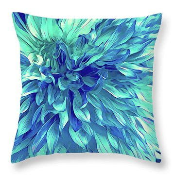 Turquoise Love  Throw Pillow