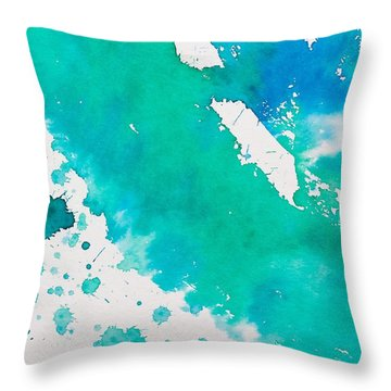 Turquoise Ring Throw Pillow