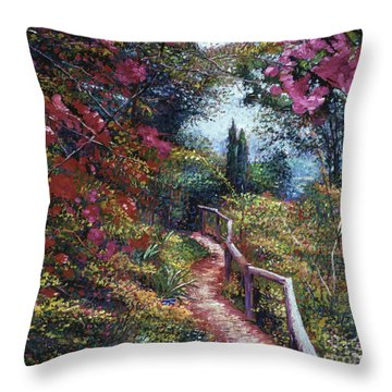 Tuscan Bougainvillea Throw Pillow