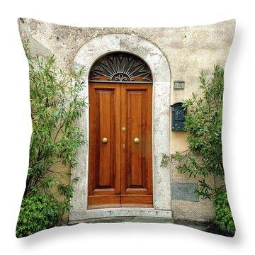 Tuscan Door Throw Pillow