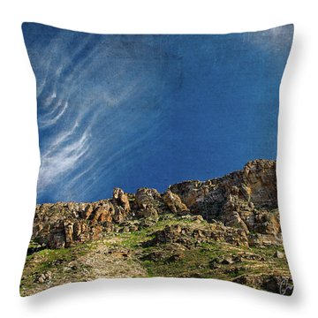 Tuscon Clouds Throw Pillow