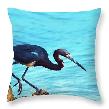 Twilight Blues Throw Pillow