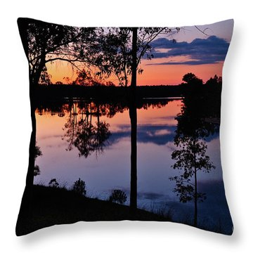 Twilight By The Lake Throw Pillow