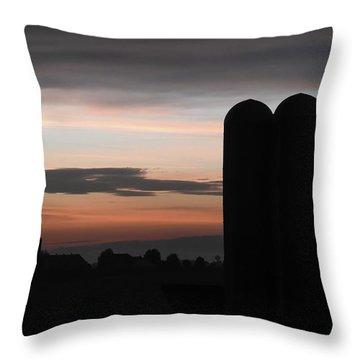 Twilight Silos Throw Pillow