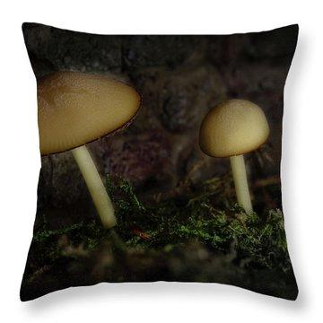 Twilight Toadstools Throw Pillow