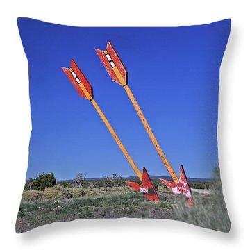 Twin Arrows Throw Pillow