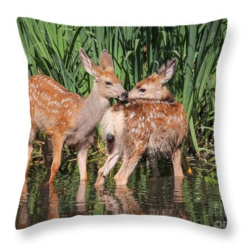 Alert Throw Pillows
