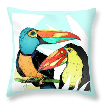 Two Can Do Throw Pillow