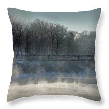 Two Cent Bridge At -5f Throw Pillow