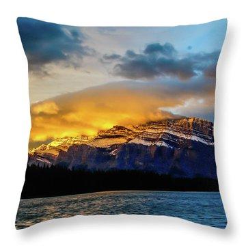 Two Jack Lake, Banff National Park, Alberta, Canada Throw Pillow