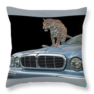 Two Jaguars 1 Throw Pillow