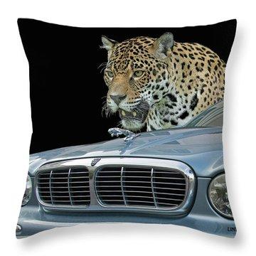 Two Jaguars 2 Throw Pillow