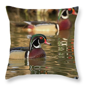 Two On The Move Throw Pillow