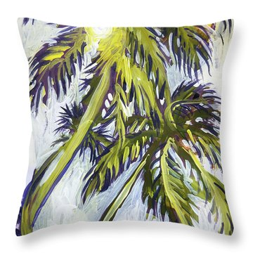 Two Palm Sketch Throw Pillow