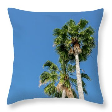 Two Palms Throw Pillow