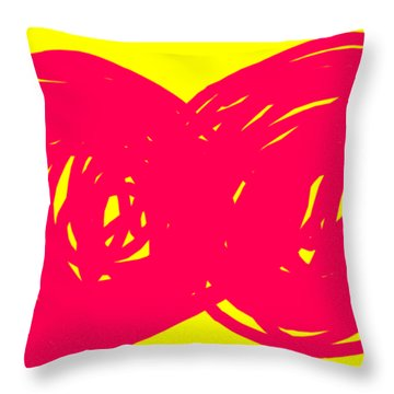 Two Red Cherries Throw Pillow