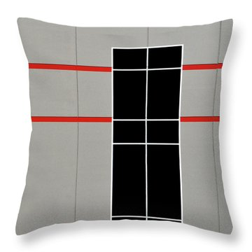 Two Red Stripes Throw Pillow