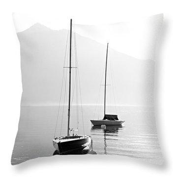 Sailboat Sunset Throw Pillows