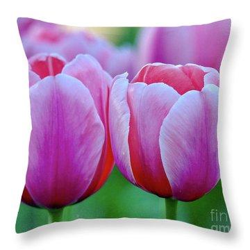 Two Tulips Throw Pillow